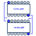 Dual 14 Pin DIP