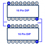 Dual 16 Pin Logic Sockets