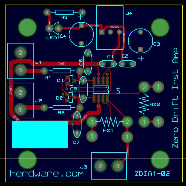 Inst Amp PCB