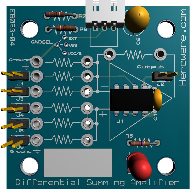 Differential Summing OpAmp Amplifier Kit Only - Herdware.com